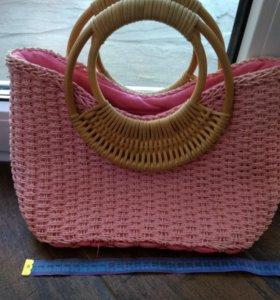 Сумочка плетеная.