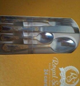 Набор из 24 предметов ложки ,вилки,ножи,1500