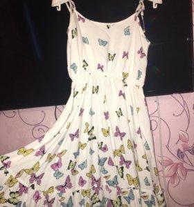 Летнее платье для девочки 10-11лет