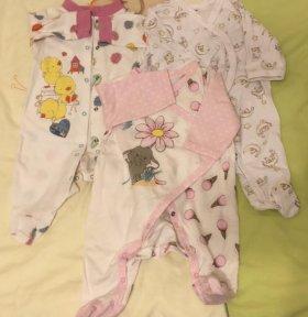 Одежда для новорождённых р.56
