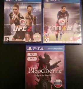 Игры на PS4 - FIFA16, Bloodborne, UFC2