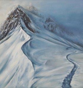 Картина маслом Снежные вершины