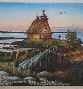 Картина маслом Остров