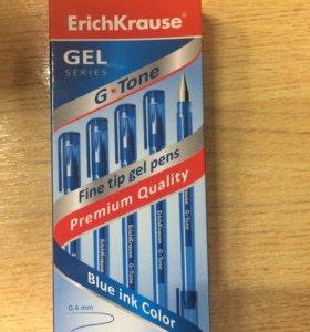 Ручки гелевые ErichKrause G-Tone синяя,красная,чер