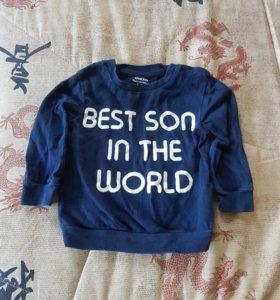 Лонгслив 6-12м Лучший сын в мире