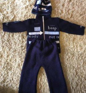 Тёплый костюм на мальчика 1-1,5г