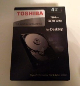Жёсткий диск, новый, 4 tb, Toshiba
