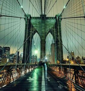 "Фотопанно""На мосту"" (фотообои) 300*270"
