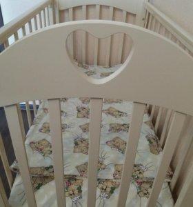 Детская кроватка (Любаша с-635) + матрас