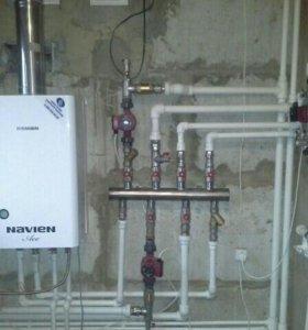 Водопровод, отопление, канализация пайка и монтаж