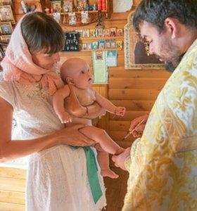 Фото и видеосъемка крещения, выписки из роддома