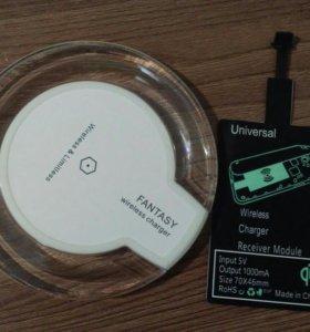 Беспроводная зарядка + адаптер