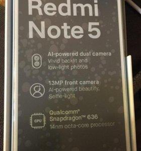 Xiaomi Redmi Note 5 Blue и Mi band 2
