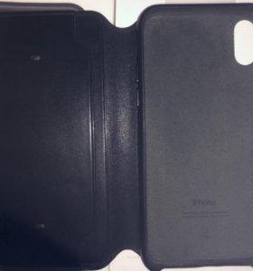 Чехол кожаный Apple folio case для iPhone X