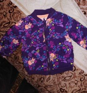 Куртка весна-осень на девочку. Новая.