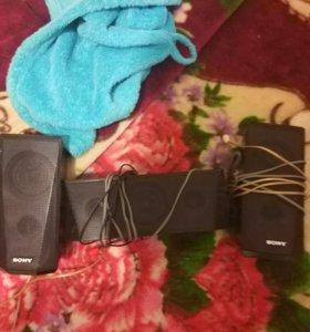 Три колонки и саб Sony
