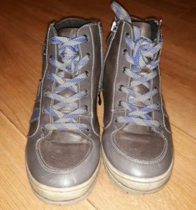 кожанные ботиночки демисезонные