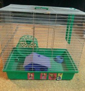 клетка для грызунов с аксессуарами