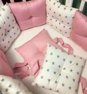 Подушки -Бортики в кроватку