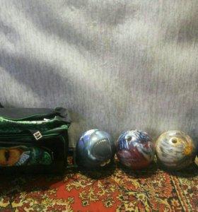 Продаю 4 шара для боулинга и сумку