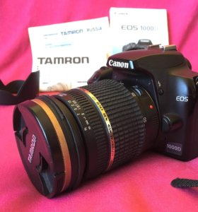 Фотоаппарат Canon EOS 1000D, объектив Tamron 17-50