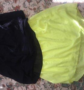 Топ+юбка и майка terranova 46-48 р