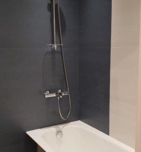 Ремонт ванной. Укладка плитки