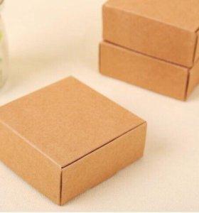Коробка крафт самосборная 8,5 х 9,5 х 3см