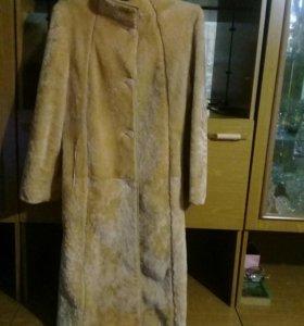 Мутоновое пальто