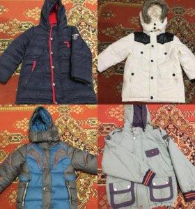 Куртки на мальчика 4-6 лет