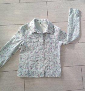 Джинсовый пиджак р. 140-146