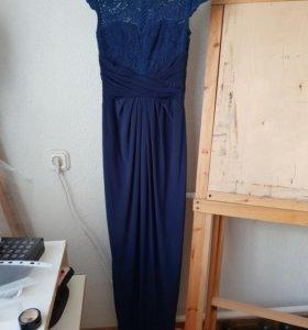 Платье макси asos с разрезом сзади