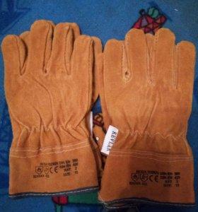 Перчатки рабочие спилковые утепленные Roba кевлар
