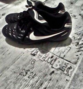 """Бутсы """"Nike Tiempo"""", нат. кожа, 37 размер"""