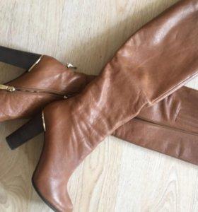 Сапоги кожаные фирменные Berconty и перчатки