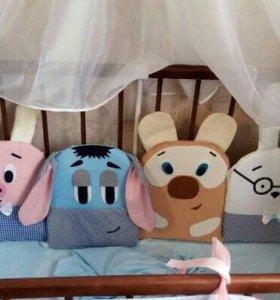 Бортики в кроватку(игрушки)