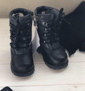Новые зимние ботинки Зебра