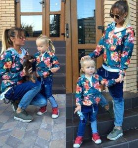 Ветровка КОМПЛЕКТ мама+дочка