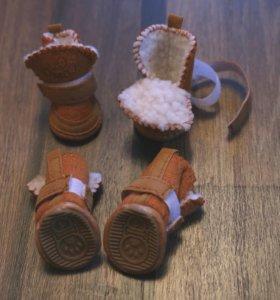 Тёплые ботинки для собак, угги