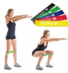 Фитнес резинка для ног спорта упражнений