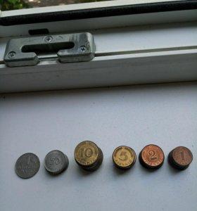 Пфенинги 1, 2, 5, 10, 50 и 1 марка