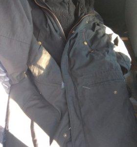 Офисная зимняя куртка , чёрная