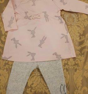 Платье с лосинами Mothercare 3-6 мес.