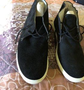 Ботинки замша