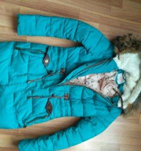 Куртка зимняя удлинненая женская