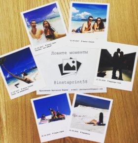 Печать фото в формате Polaroid