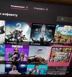 Xbox one 2 геймпада 40 игр