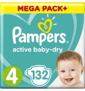 Подгузники Pampers Active Baby-Dry Maxi (9-14 кг)