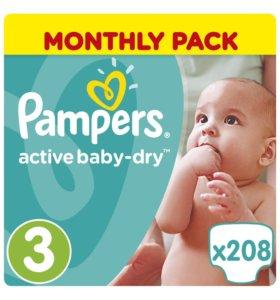Подгузники Pampers Active Baby-Dry midi (5-9 кг),