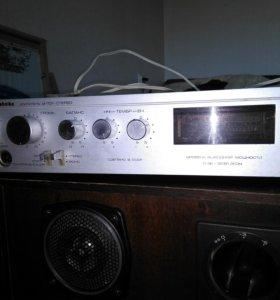 Колонки Радиотехника+ усилитель Радиотехника